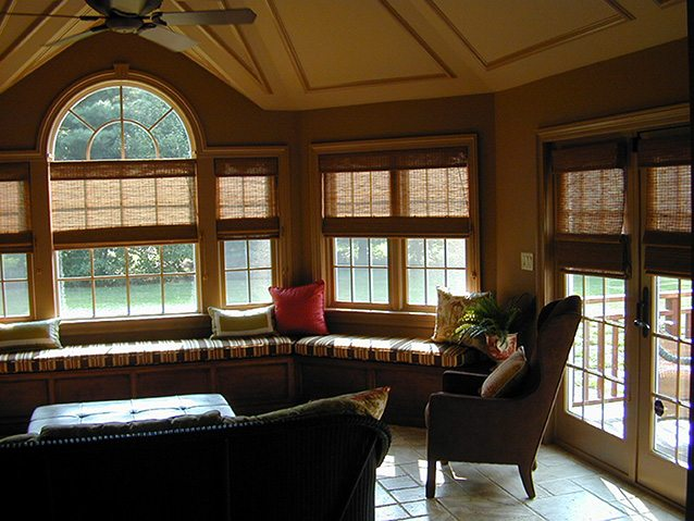Sunroom with Interesting Ceiling