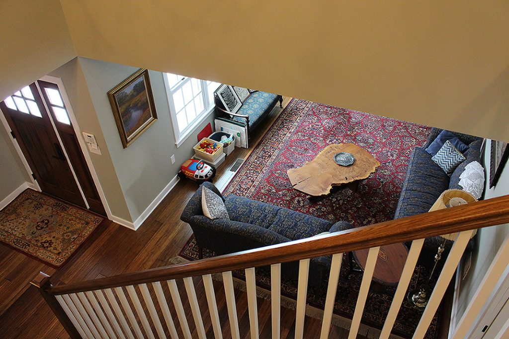 View Looking Down New Stairs