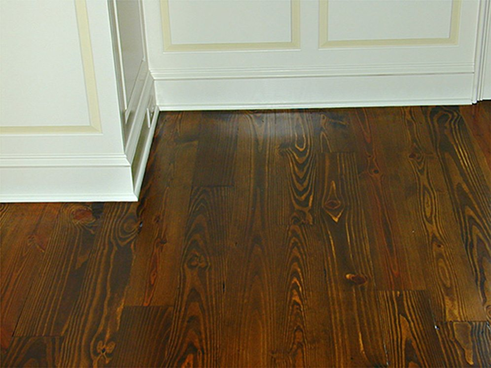 Yellow Pine Floor and Base Detail