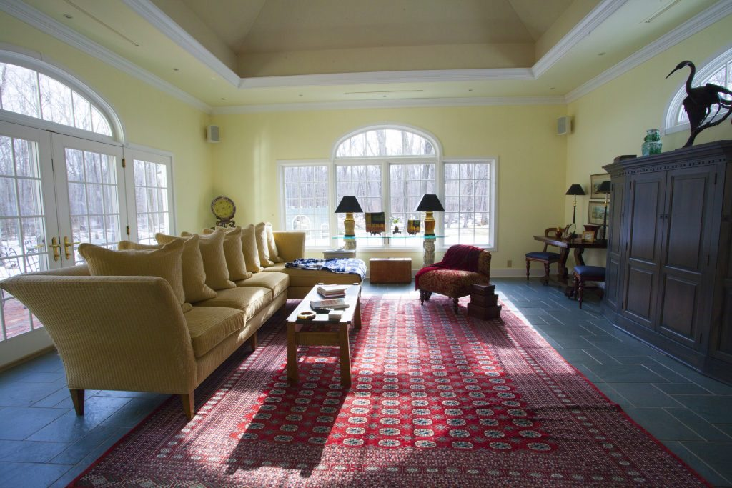 Sun Room with Hip Ceiling