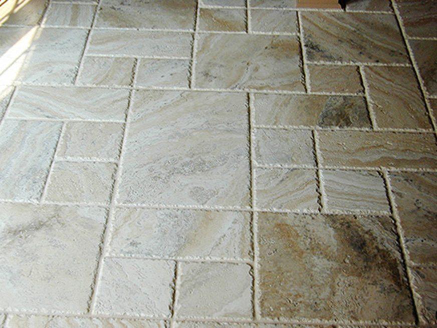 Chipped Edge Travertine Flooring